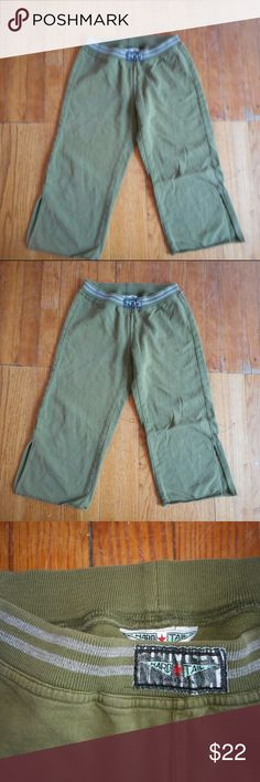 Hardtail Juniors size 14 green Sweatpants shorts HARDTAIL JUNIORS LG 14 13.25 across 7.5 inch rise 20 inch short leg Adorable stretchy pants so comfortable looks great on the butt ;) my favorite brand, hard to find now a days Great Condition no major flaws Hard Tail Pants Track Pants & Joggers