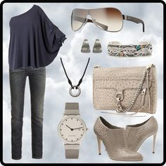 """Jean Outfit"" by natacha-pg ❤ liked on Polyvore"