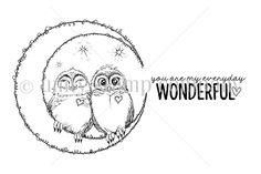 Everyday Wonderful Owls {uu 8/17} | Unity Stamp Co