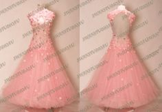 NEW SUGAR PINK BALLROOM DANCE COMPETITION DRESS :WB2539