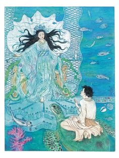 'Urashimataro and the Turtle' from The Pink Fairy Book.