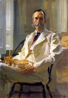 Cecilia Beaux - Henry Sturgis Drinker (Man with the Cat), 1898; Smithsonian American Art Museum