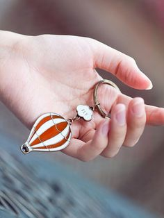 ORMELL Cute Animal Cartoon Fire #Balloon Car Camera Punk Key Chains For Men And Women Jewelry Gifts #KeyChains