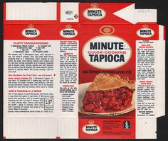General Foods Minute Quick-Cooking Tapioca box file flat - June 29 1971 by JasonLiebig, via Flickr