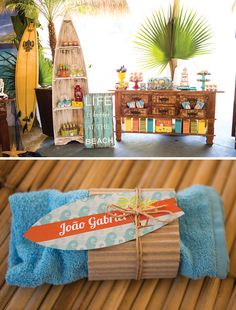 Surfs Up! Incredible Island Paradise Birthday Party: Towel Favors