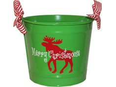 merry christmoose bucket  www.ladybugbuckets.com