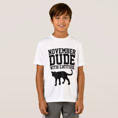 NOVEMBER BIRTHDAY T-shirts  for Men Guys Boys Cat - cat cats kitten kitty pet love pussy