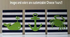 Nautical Nursery Decor Acrylic Painting Sailboat By Joanitabonita 50 00 Beach Pinterest And