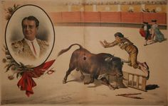 """El torero Joaquín Sanz Almenar """"Punteret"""" siendo cornado en la Plaza de la Unión (Montevideo) el 26 de febrero de 1888. Dibujo aparecido en la revista taurina La Lidia. Año VII. Madrid, lunes 7 de Mayo de 1888. Núm. 6."""
