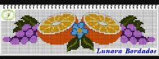 Laranja - cozinha - fruta Embroidery Art, Embroidery Designs, Brother Innovis, Canvas Designs, Cross Stitch Flowers, Needlework, Alphabet, Tapestry, Fruit