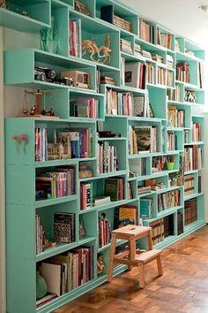 Resultado de imagem para nicho para livros parede