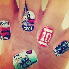 One direction nail art One Direction Nails, One Direction Outfits, I Love One Direction, Us Nails, Love Nails, Pretty Nails, Hair And Nails, Niall Horan, Zayn