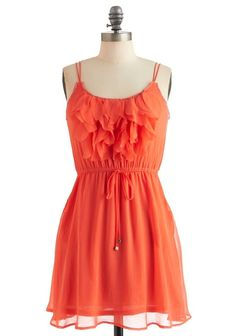 Peach ruffled dress. I need this for showcase!!