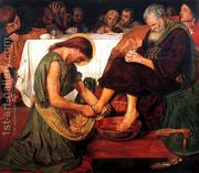 Jesus washing Peter's feet at the Last Supper  by Ford Madox Brown