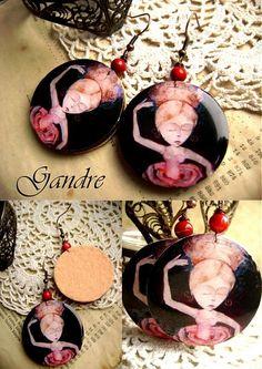 Dance of the Rose Washer Necklace, Resin, Earrings, Ear Rings, Stud Earrings, Ear Piercings, Ear Jewelry, Beaded Earrings Native, Pierced Earrings