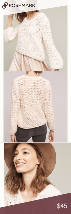"Anthropologie Delaney Pullover by Moon River NWT❗️Acrylic, nylon💝Pullover styling💗Dry clean🎀Imported🎊Style No. 4114448391385 Dimensions= 21.75""L Anthropologie Sweaters"