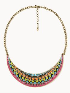 Tribal bib necklace, £7.49, Forever 21