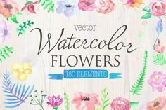 "Check out my Watercolor flowers vector elements on @creativemarket , so proud of myself because i was in ""New this week"" newsletter ;)"