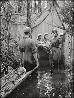 NLF hospital near the Cambodian border. Vietnam War 1970