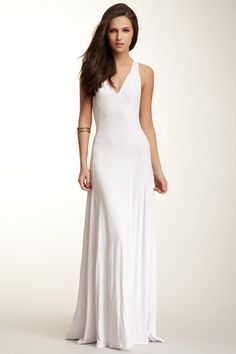 V-Neck Racerback Maxi Dress by Go Couture on @HauteLook