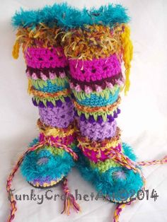 Are These Fun or What? Crochet Slipper Boots