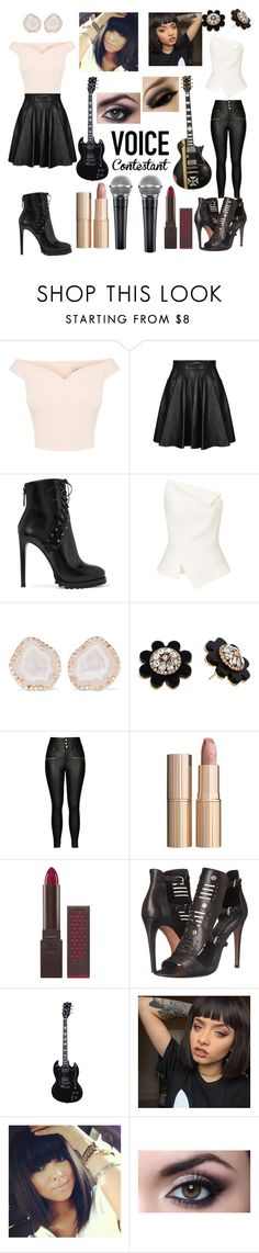 """""""The Voice"""" by laurie-dumazy ❤ liked on Polyvore featuring Jeremy Scott, Alaïa, Roland Mouret, Kimberly McDonald, Kate Spade, City Chic, Charlotte Tilbury, Burt's Bees, Rebecca Minkoff and BLVD Supply"""