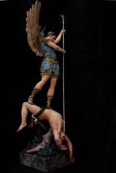St. Michael the Archangel Casting Satan into Hell. by PeterGabrielMurphy