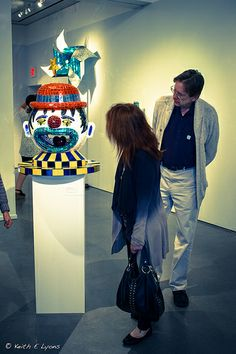 Checking out the art! | Mega Exhibition Reception | Oceanside Museum of Art | #OMA #art #Oceanside