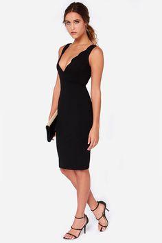 c72cadb71b Exclusive Work of Heart Midi Black Bodycon Dress