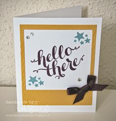 BLOGHOP - Hello There Be the Star Stampin' Up! Hello There Point & Click On Film framelits