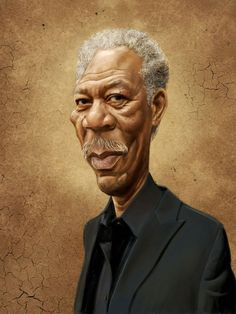 Morgan Freeman, por markdraws