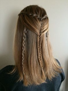 Waterfallbraid with fishtail