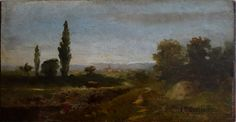 "''The Hay Wagon,'' Edward Mithchell Bannister, oil on paper laid down on pandel, 8 x 15"", Bill Hodges Gallery"