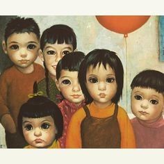 """Dragon on Parade"" 1962 #keane #margaretkeane #timburton #bigeyes #waifs"
