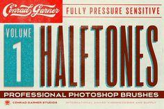 HALFTONE Brushes - P