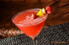 Our signature cocktail combines muddled raspberry, strawberry and lemon juice with St. Germain Elderflower liqueur with Absolute Vodka and a splash of cranberry.