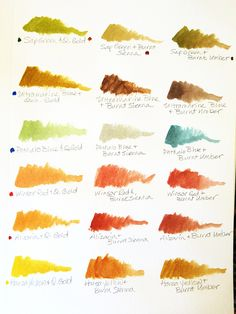 Watercolor Mixes - Part 1 by inkophile, via Flickr