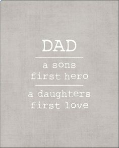 Typography Print DAD a sons first hero a by kardzkouture on Etsy, $15.00
