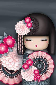 "✿ Kimmi Doll ~ ""Kanako"" geisha 'Flamboyant' ✿ Find more wallpapers for your + Asian Doll, Thinking Day, Japanese Embroidery, Embroidery Ideas, Kokeshi Dolls, Matryoshka Doll, Momiji Doll, Little Doll, Cute Tattoos"