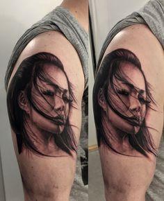 geisha tattoo I did recently. #tattoo #geisha #realistic #blackandgrey #ink…