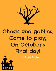 Come to play... A Halloween poem