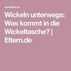 Wickeln unterwegs: Was kommt in die Wickeltasche? | Eltern.de