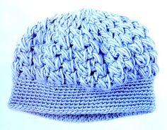 вязаная шапка-берет