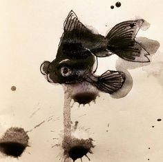 ORGANIC MINDLESS - Black fish #inktober2019 Illustrations, Reproduction, Sketches, Organic, Fish, Abstract, Drawings, Artwork, Black