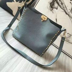 2016 Fall/Winter Valentino Rockstud Leather Hobo Bag Sale with Free Shipping £185.00