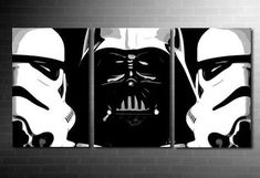 StarWars canvas print, Darth Vader and Stormtroopers on one large canvas only 64.99 Excellent quality giclee print