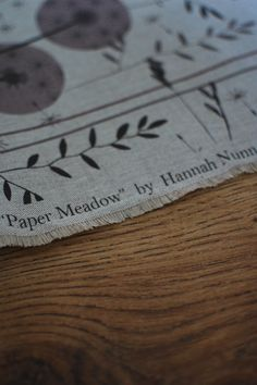 Hannah Nunn: My Paper Meadow fabric is HERE! #fabric #pattern #surfacepattern