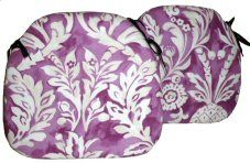 2 Spindle Chair Seat Pads Ophelia Cassis