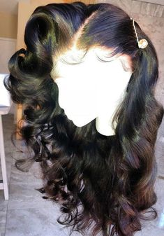 Beautiful long wavy wigs for black women lace front wigs human hair wigs long wavy hairstyles - My list of the most beautiful women's hair styles Human Lace Front Wigs, Human Hair Lace Wigs, Human Wigs, Afro Wigs, Curly Wigs, Curly Afro, Curly Bun, Curly Hair Styles, Natural Hair Styles
