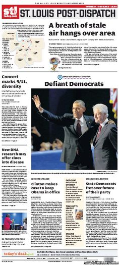 St. Louis Post-Dispatch September 6, 2012  #STL #newspapers